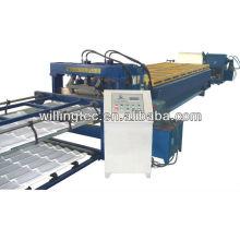 2014 alibaba expresar nuevo tipo de color de azulejos de baldosas de laminado de formación de la máquina