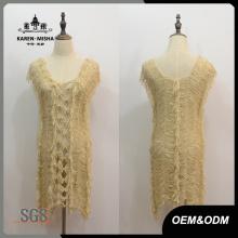 Frauen Knoten Square Neck Dress