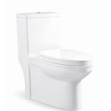 Siphon White Round Bowl One Piece Toilet