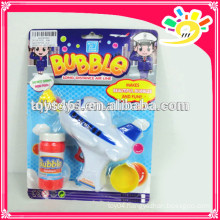 Plastic friction bubble gun toy for kids