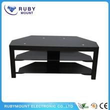 Personalizado 60 pulgadas mejor soporte de mesa TV Negro