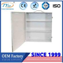 Mobiler Erste-Hilfe-Schrank für 3 Regale aus Stahl
