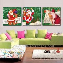 Santa Claus Triptych Print Art