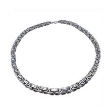 Alta qualidade de aço inoxidável pulseiras de prata banhado, homens de luxo de prata picada pulseira de jóias