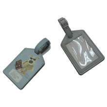 Отличная бирка для багажа из натуральной кожи PU с логотипом для печати (B1001)
