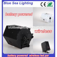 6pcs 18w wireless led par light /battery dmx led decorative led lighting