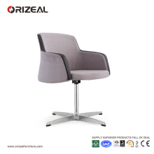 Orizeal Fabric Upholstered Swivel Armchair,Simple Reception Bar Chair (OZ-OSF013)