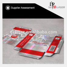 Smoking box shrink film for printing with laser