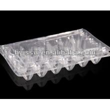 Bandeja de huevos de codorniz de plástico transparente