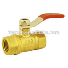 1/4 turn ball valve compression and thread ends red handle Lead free