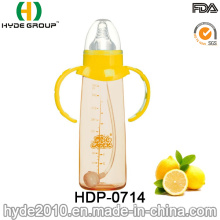 Hot Sale 260ml BPA Free PP Plastic Baby Feeding Bottle, Customized Plastic Baby Milk Bottle (HDP-0714)