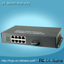 CCTV Caméra Connecteur Gigabit Media Converter 10 / 1000M Fiber to 8 Ethernet Converter