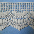 New White Lace Fabric Appliqued Lace Flower with Pearls for Bridal Wedding Dress CM025CB