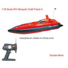 Barato 1/16 Fast RC velocidade controlada barcos com motor duplo