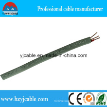 Gray Color Flat Type Sheath Electric Wire BVVB 3 Core with Earth Ground Wire, 3X1.0mm2, 3X1.5mm2, 3X2.5mm2, Hot Sale