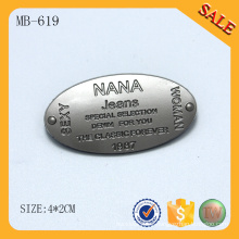 MB619 Accesorio al por mayor del bolso de encargo del metal de la manera hardware