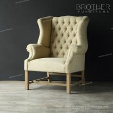 Cadeira de jantar de restaurante de estofos em madeira com almofada