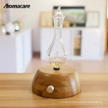 Aromacare Wood Glass Scent Air Machine Innovación difusor lámpara de aceite esencial nebulizador 2018