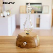 Aromacare Wood Glass Scent Air Machine Innovation Diffuser Essential Oil Lamp Nebulizer 2018
