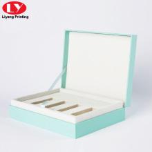 Caja de regalo personalizada con espuma para aceites esenciales.
