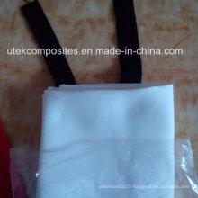Housse résistant au feu de fibre de verre de 1,2 m * 1.2cm de silicone