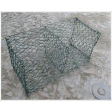 Cestas de gabião preenchido com pedras / caixa de gabião soldadas