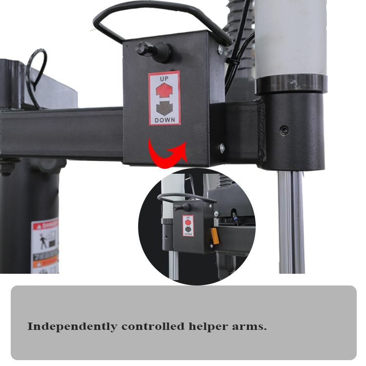 tire changer hand control valve