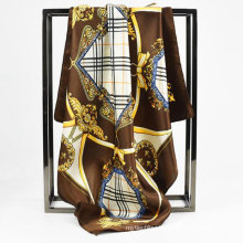 Top selling women square satin scarf size arabic ladies scarf with competitive price