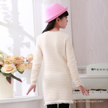 high quality spring autumn two colour woolen girl sweater design