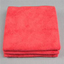 Microfiber 40/40cm Best Cleaning Warp Knitted Red Towels