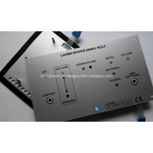 Тактильный мембранный переключатель с алюминиевой задней панелью