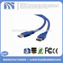 USB estándar 3.0 A macho a un cable de extensión femenino Cable USB3.0 AM a AF 5 metros 5m 16 pies 5 Gbps Velocidad 9 + 1 base