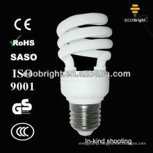 Energy Saver Lamp T2 Half Spiral 15W 8000H CE QUALITY