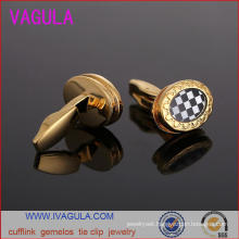 VAGULA New Check Button Wedding Shirt Cuffs Gemelos Cufflinks (L51922)