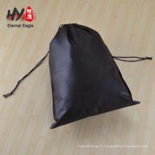 sac de cordon réutilisable décoratif de popcorn de logo personnalisé non tissé