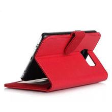 Делюкс роскошный сотовый телефон PU кожаный чехол для Samsung Галактики С6
