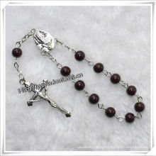 New Design Glass Beads Decade Rosary Religious Bracelet (IO-CE067)