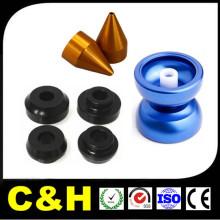 Pièces de tour CNC en aluminium anodisé noir / rouge / bleu