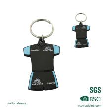 Keychain de PVC de conception faite sur commande avec le logo adapté aux besoins du client
