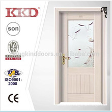 Steel Wood Door KJ-707 For New Design With Glass Used In Bedroom and Bathroom As Apartment