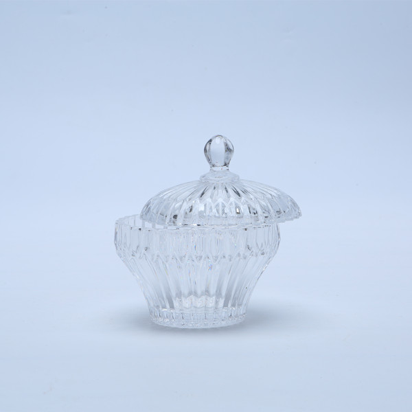 Br 1810wholesale Crystal Glass Candy Boxglass Storage Jar