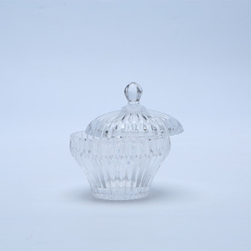 Wholesale Crystal Glass Candy Box/Glass Storage Jar