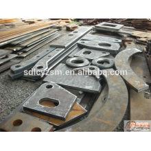 Couper la plaque d'acier