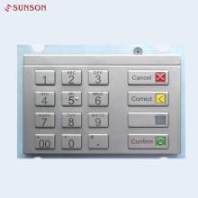 Водонепроницаемая клавиатура Пинпад USB зашифрованная с металлическими кнопками 16