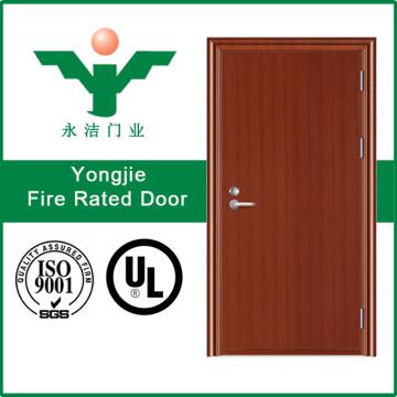 Porta de fogo de madeira com certificado