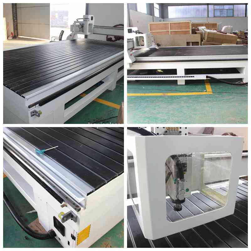 LP2040 cnc router spindle and working table
