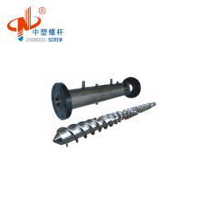 Extruder cold feeding rubber screw barrel design