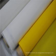 Malla de impresión de pantalla de seda de poliéster 100% monofilamento liso amarillo de la tela