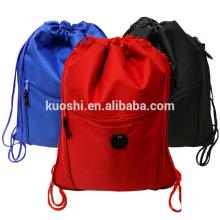 Denim cotton drawstring shopping bag