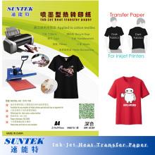 192GSM струйный Футболка трансферная печать Бумага для темных тканей (НТР-Т03)